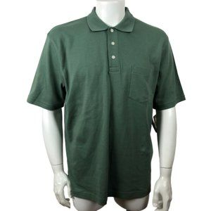 NWT! CROFT & BARROW Men's Green Polo Shirt Sz Lg